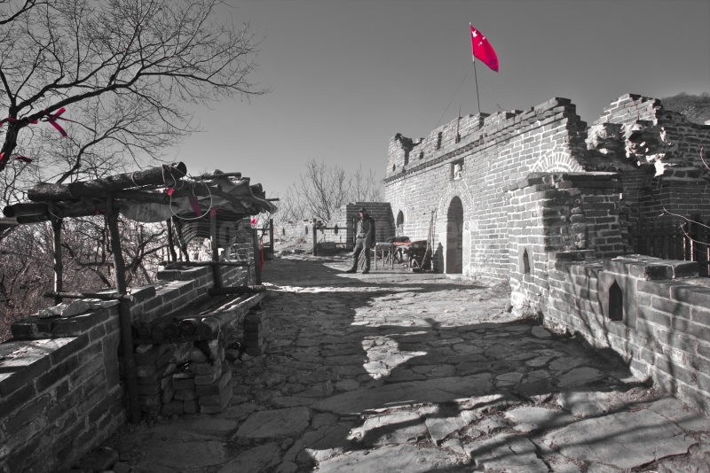 El final de un tramo visitable de la muralla china depara una última sorpresa