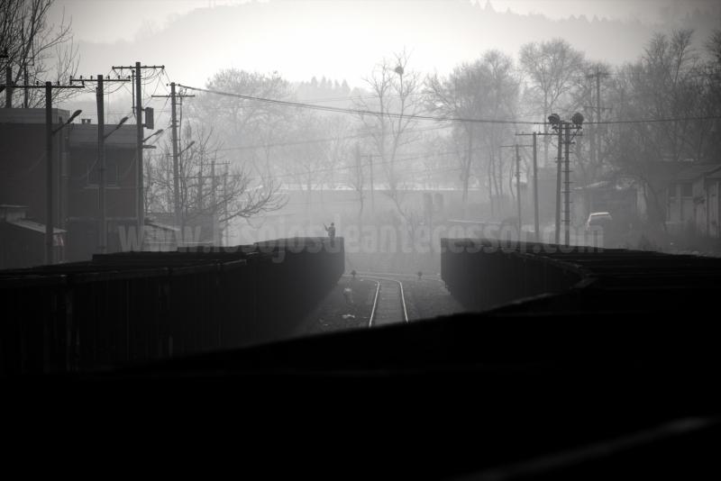 Limpiador de vagones de tren destinados al carbón en Zhoukoudian