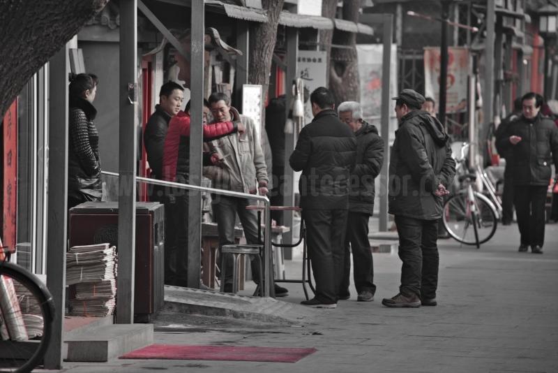 Los juegos de cartas son tambien muy usuales verlos por toda la ciudad de Pekin